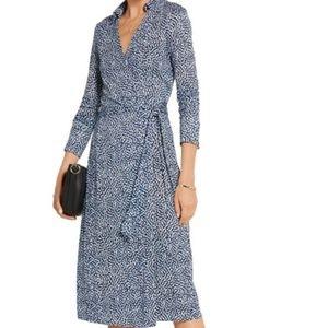 Diane von Fustenberg Cybil Silk Jersey Wrap Dress